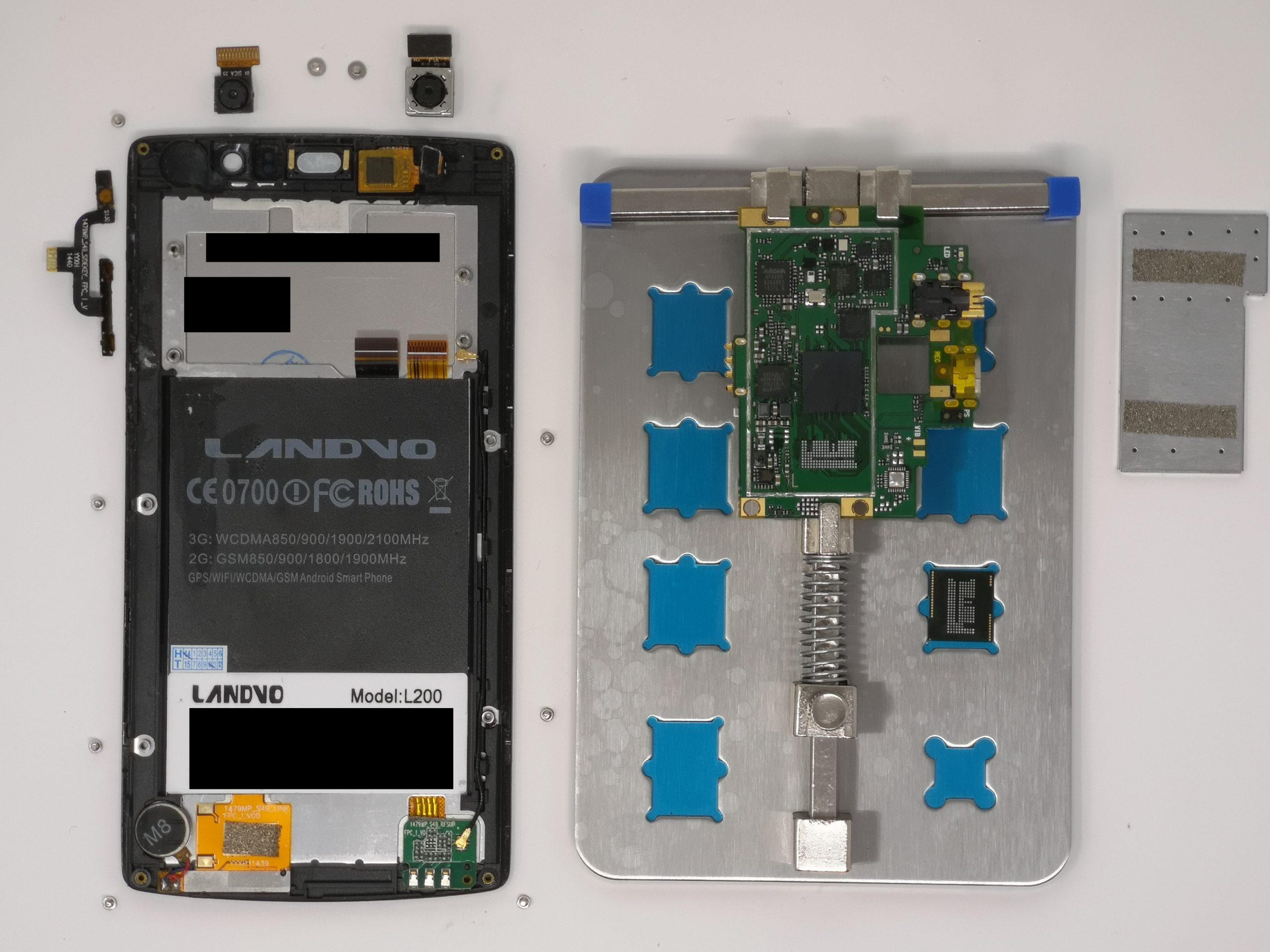 Reparatur von Geräten und Chip-Off Methode